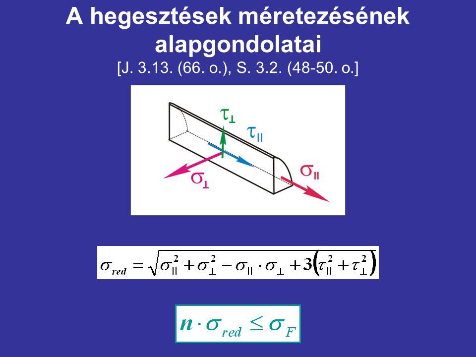 A hegesztések méretezésének alapgondolatai [J. 3. 13. (66. o. ), S. 3